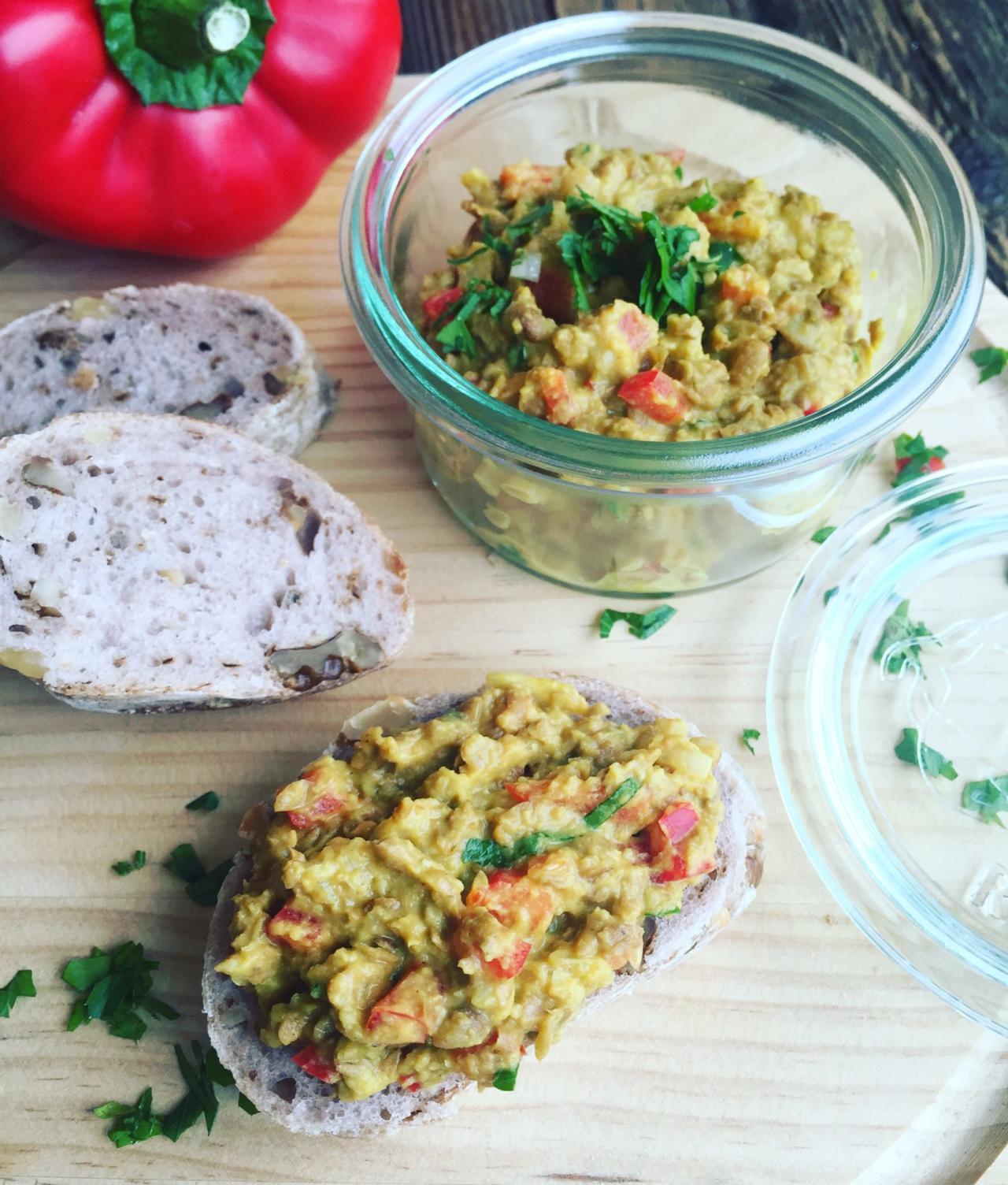 Linsenaufstrich mit Curry