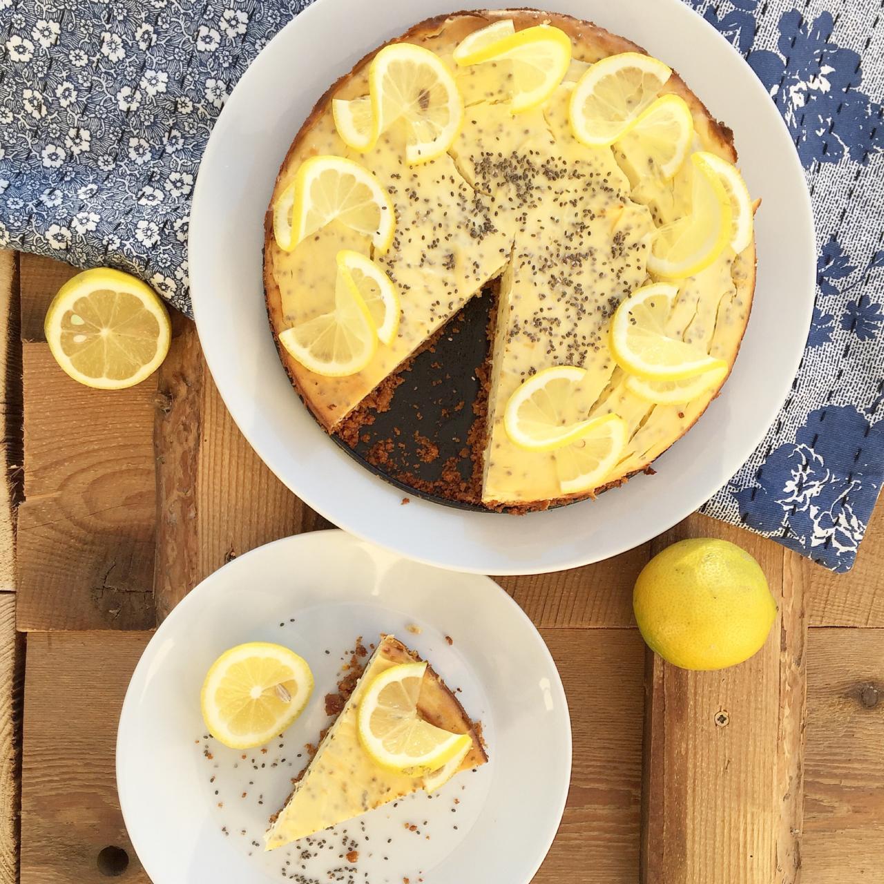 Zitronen Chia Cheescake