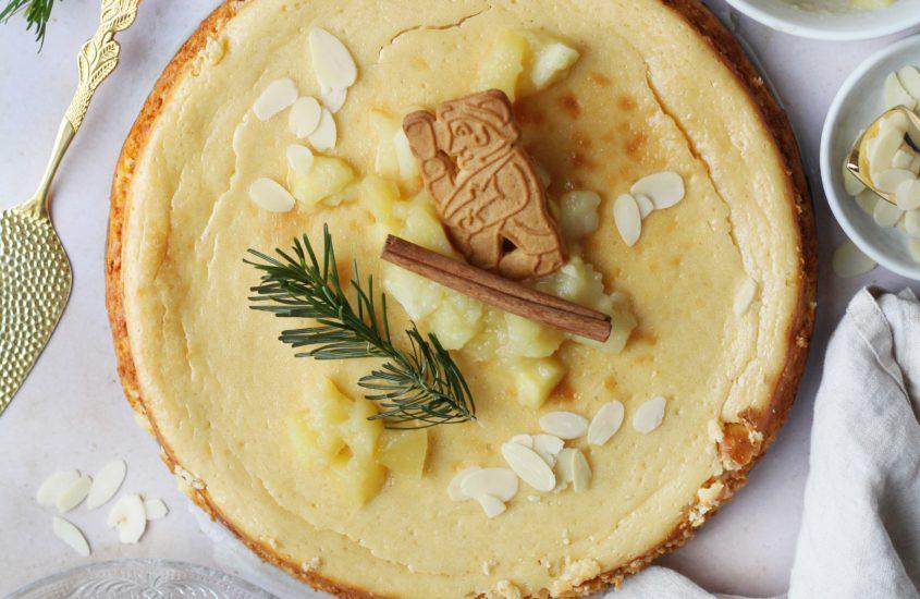 Spekulatius Cheesecake mit Bratapfel Kompott