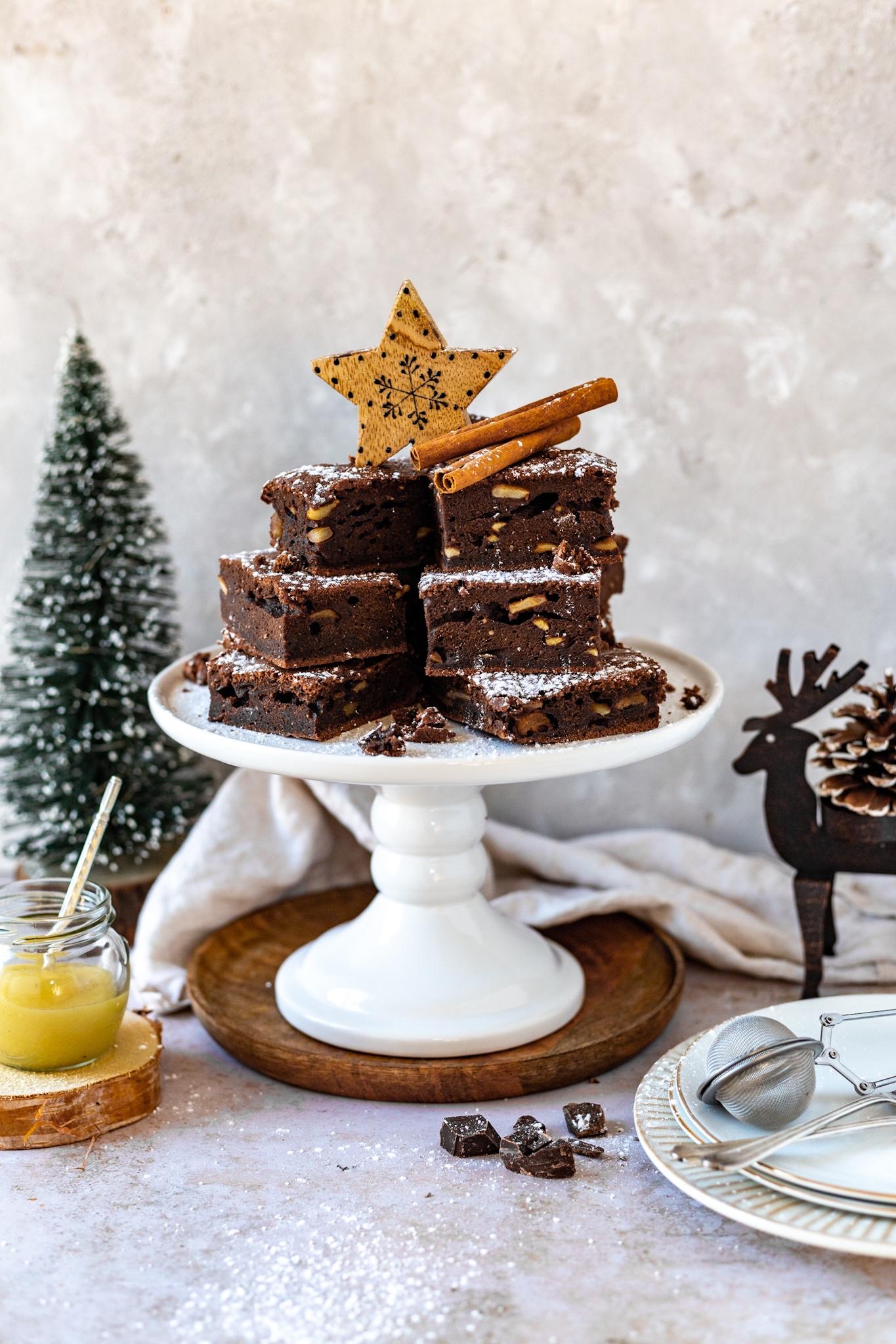 Bratapfel Brownies