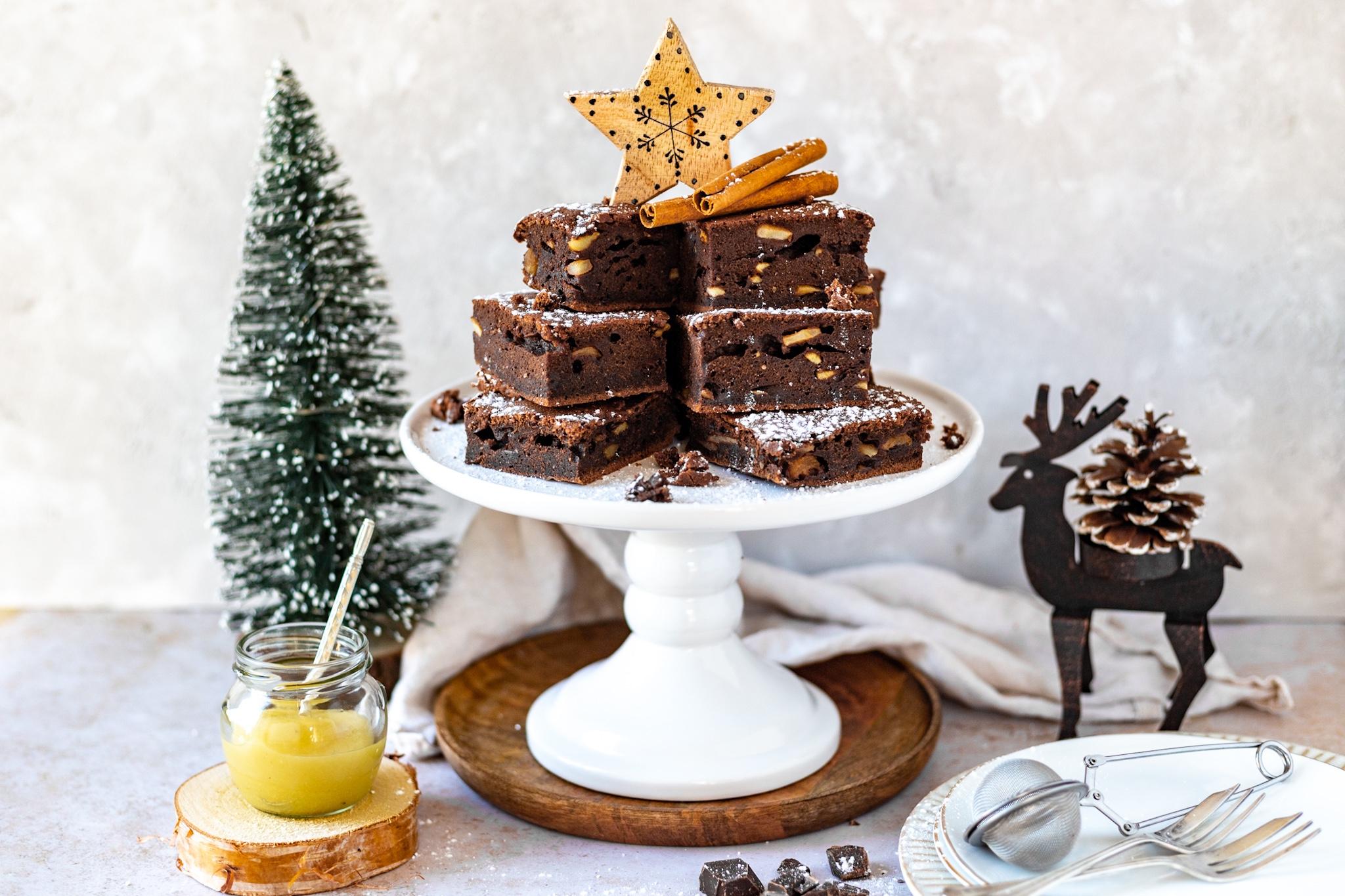 Apfel Schokoladen Brownies